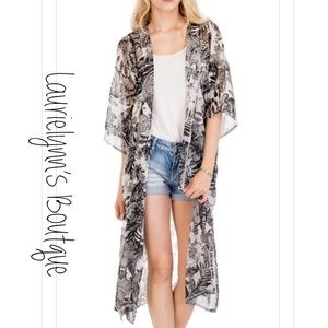 Beautiful, Exotic, sheer, extra long kimono